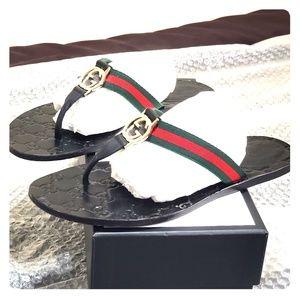 Shoes - GG thong Web sandal